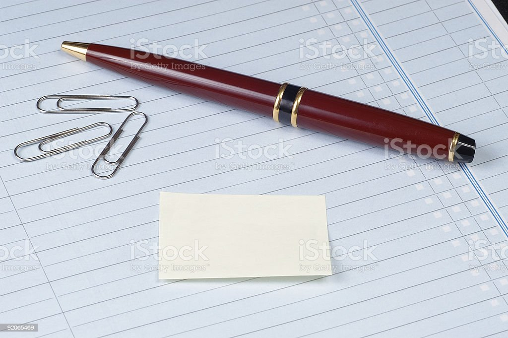 Business Note with Blank Post-It royalty-free stock photo