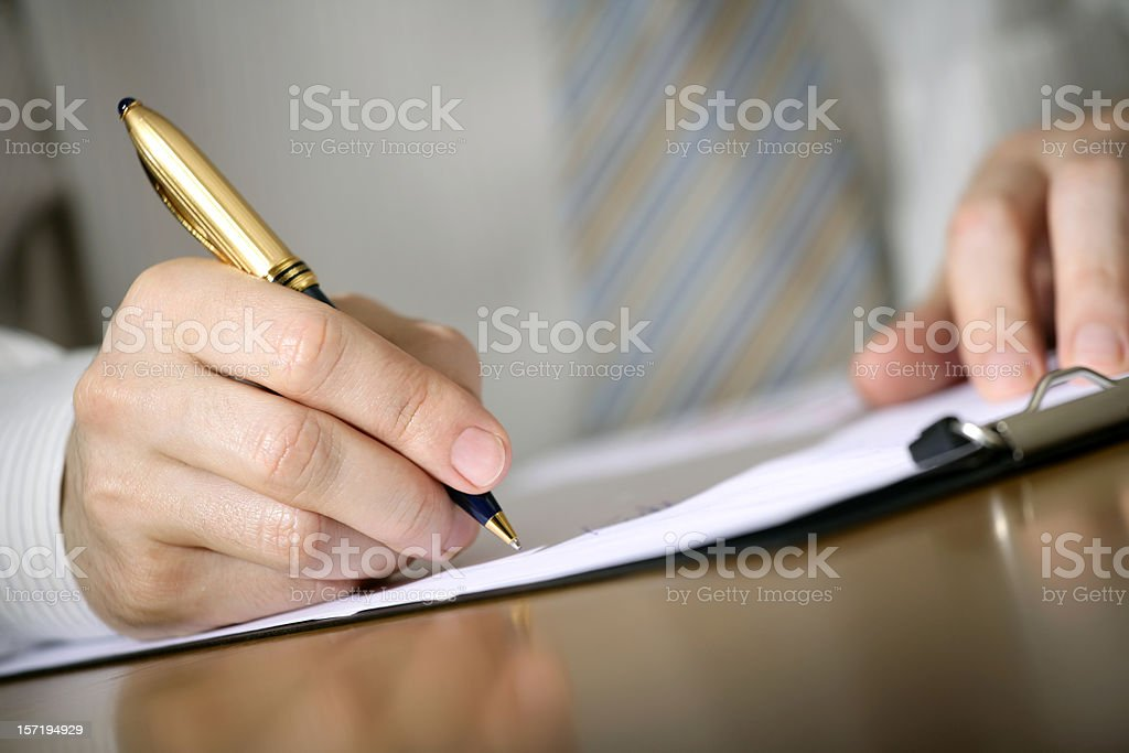 Business notes stock photo