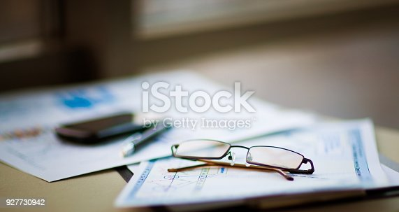 istock Business of financial analysis of workplace 927730942