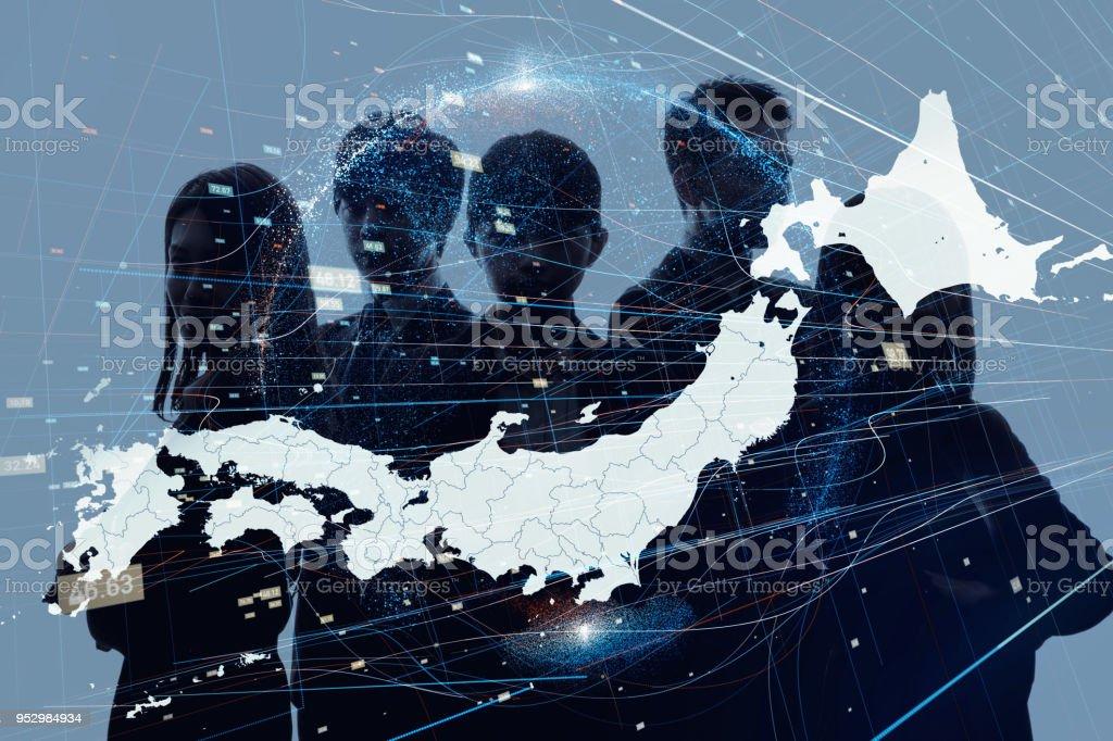 日本コンセプトのビジネス。 - つながりのロイヤリティフリーストックフォト
