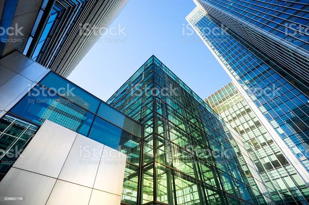 Business office building in London, England stok fotoğrafı