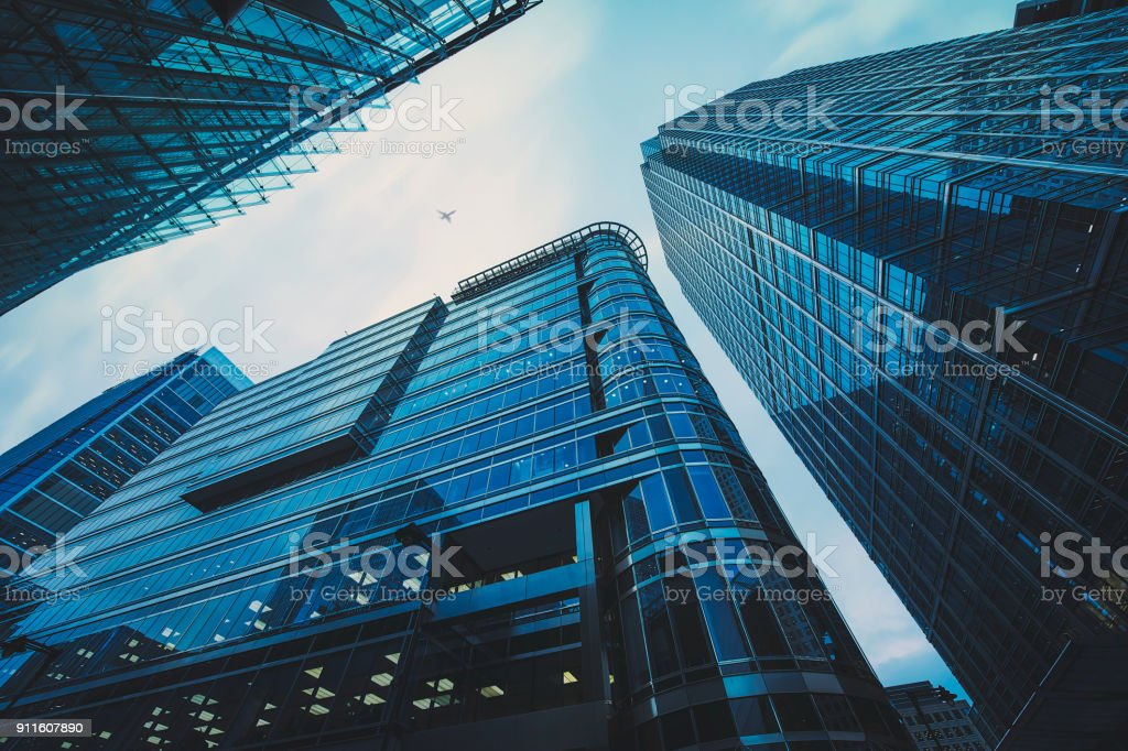 Business office building in London, stock photo