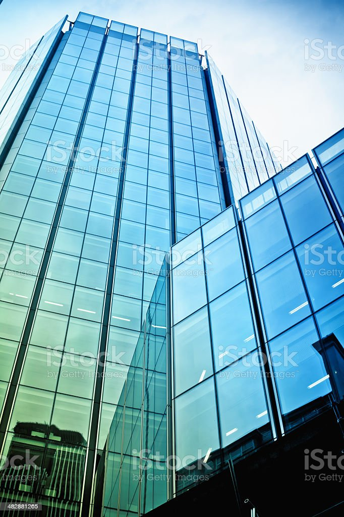 Business Office Glass Skyscraper in London royalty-free stock photo