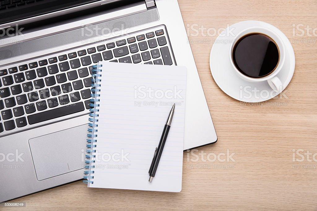 Business office scene stock photo