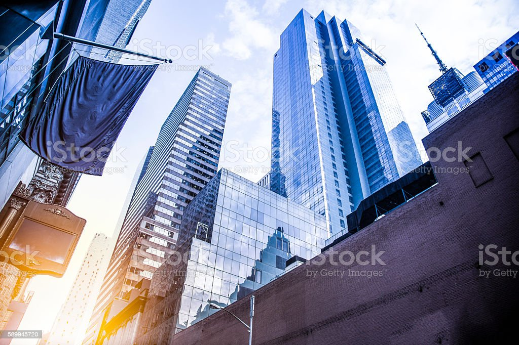 Business office skyscraper stock photo