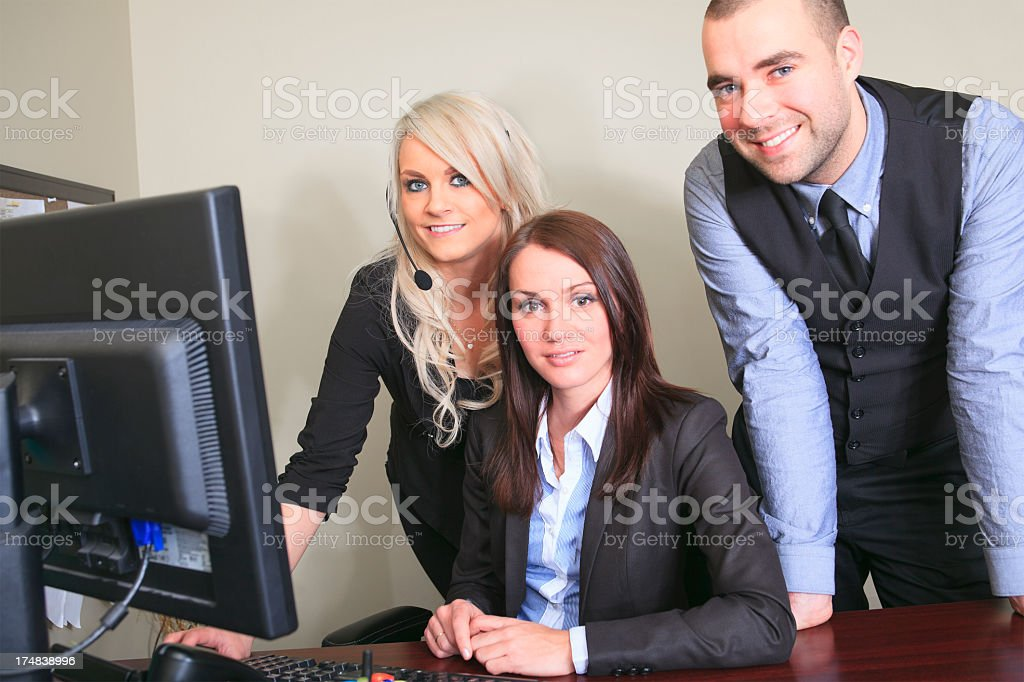 Business Office - Team Employee royalty-free stock photo