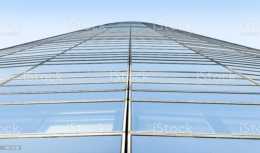 Business offices skyscraper bottom view royalty-free stock photo