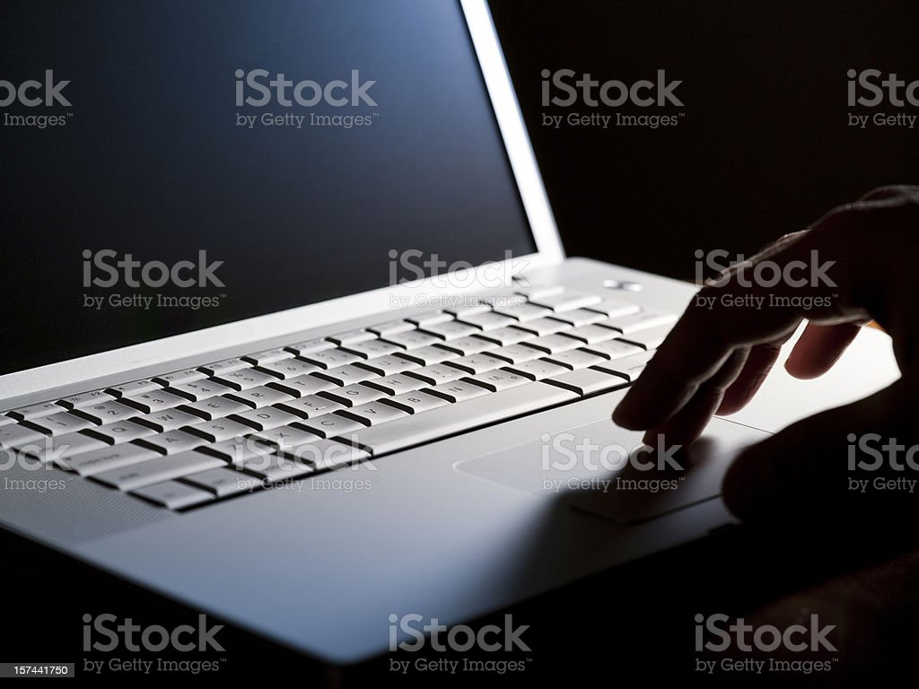 Business on a laptop royalty-free stock photo
