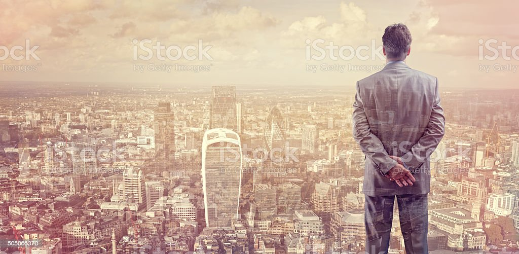 Business on the city stock photo