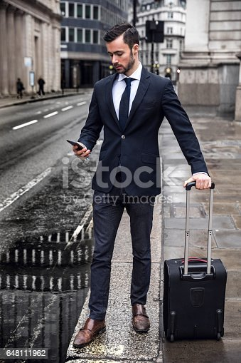 istock Business on the go in the city of London 648111962
