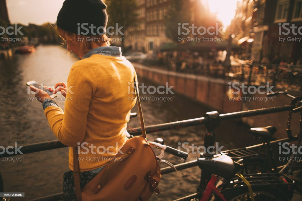 Business on the go! stock photo