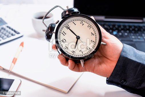 Business on time concept. Fresh start of the day and ready to work.