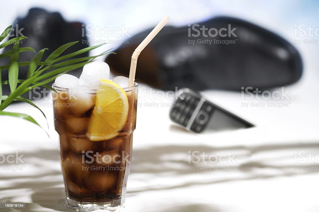 Business on vacation. royalty-free stock photo
