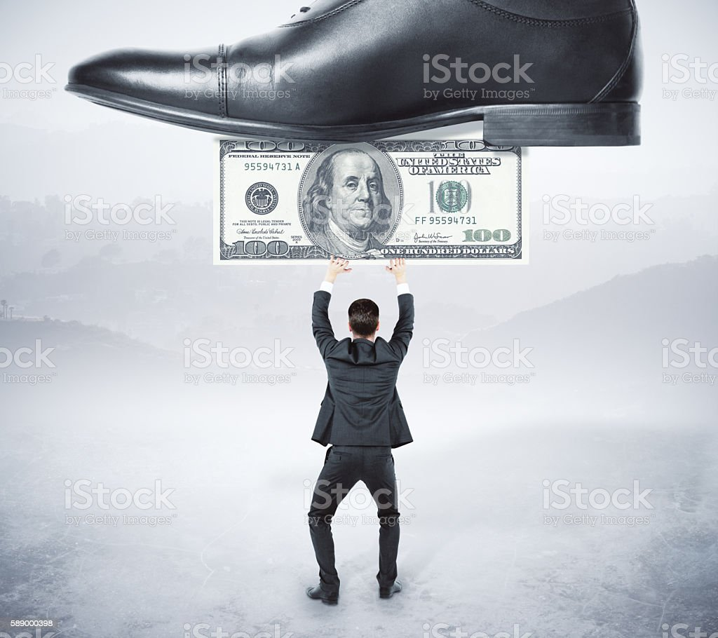 Business opression stock photo