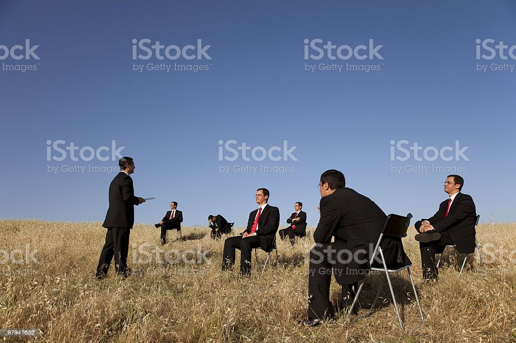 business outdoor training royalty-free stock photo