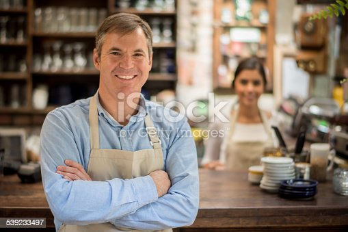 istock Business owner at a coffee shop 539233497