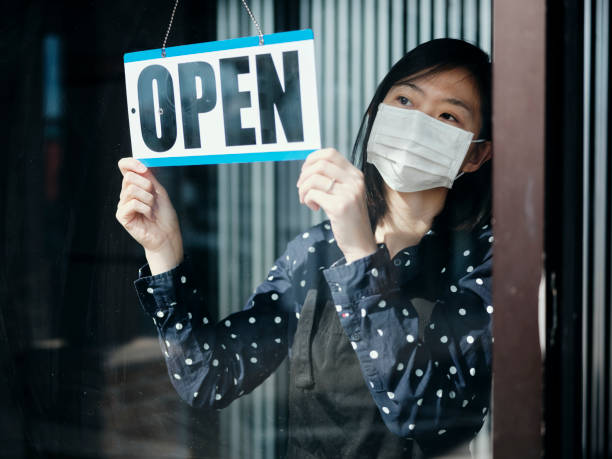 Business Owner Open Sign stock photo