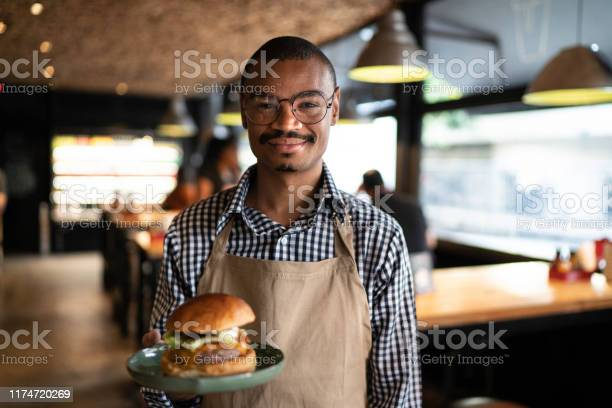 Business owner or waiter showing a hambuguer picture id1174720269?b=1&k=6&m=1174720269&s=612x612&h=mji2i9hy6ikmyky9jombbcattcnhzugm2gmad4sv7ug=