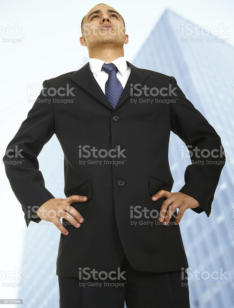 Business Owner Standing In Front Of Building royalty-free stock photo