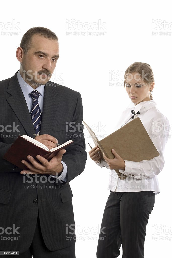Business pair royalty-free stock photo