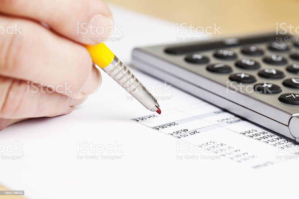 business Papierkram Planung Berechnung Lizenzfreies stock-foto