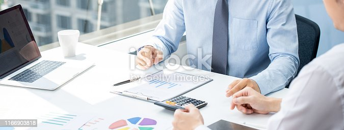 istock Business partner in sales strategy meeting 1166903818