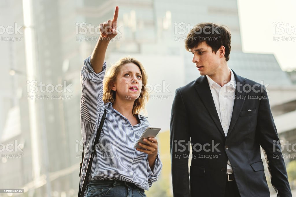 Business partner out for meeting - Royalty-free Achievement Stock Photo