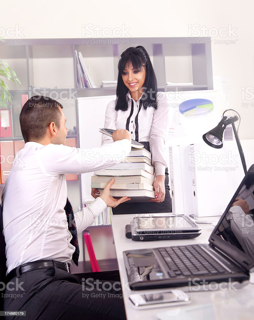 Business partners at work royalty-free stock photo