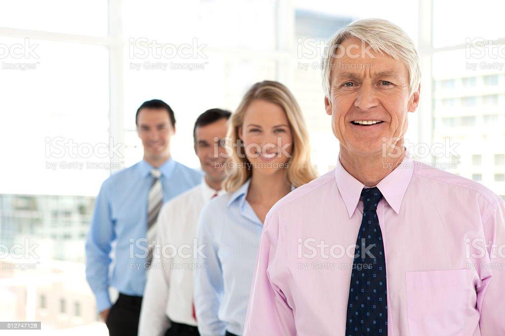 Business partners behind CEO stok fotoğrafı