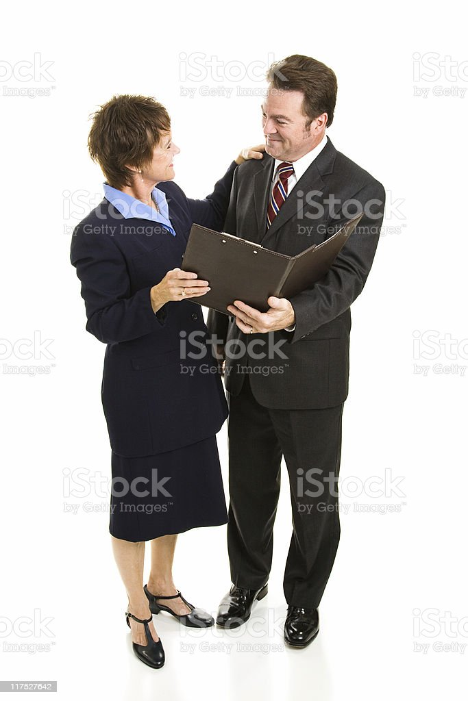 Business Partners Full Body royalty-free stock photo