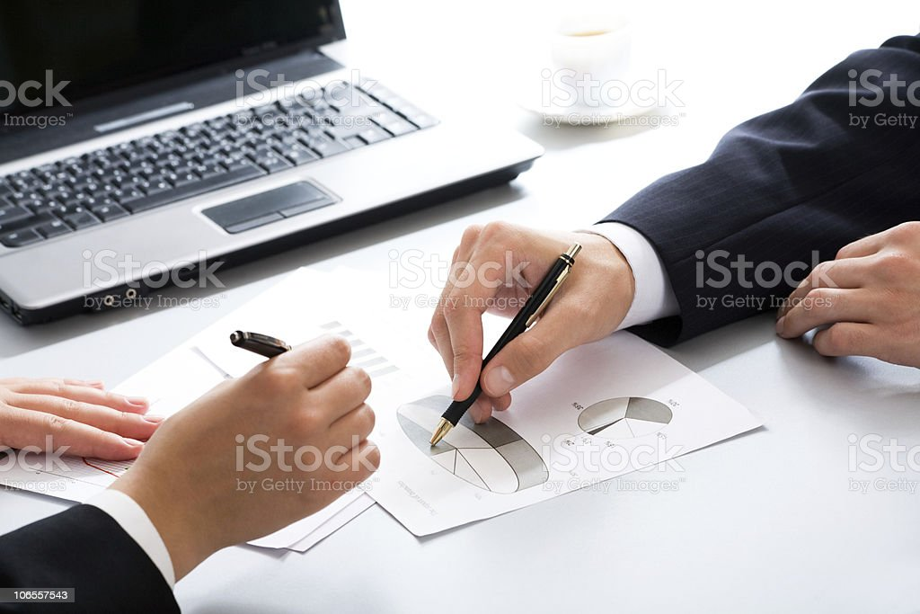 Business partners hands royalty-free stock photo