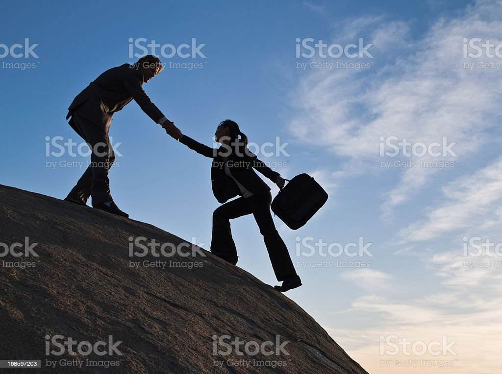 Business Partners Helping Each Other royalty-free stock photo