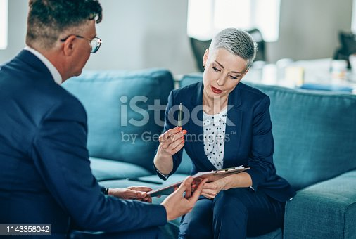 1157633068 istock photo Business partners in discussion 1143358042