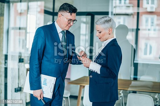 1157633068 istock photo Business partners in discussion 1156210238