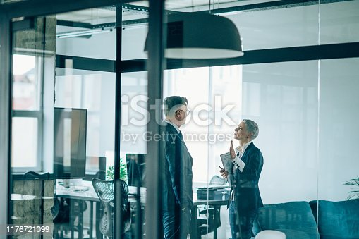 1157633068 istock photo Business partners in discussion 1176721099