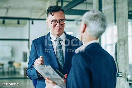 1157633068 istock photo Business partners in discussion 1191567818