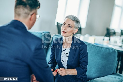1157633068 istock photo Business partners in discussion 1191567823