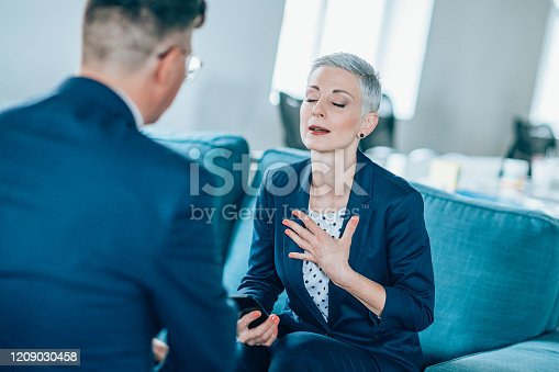 1157633068 istock photo Business partners in discussion 1209030458