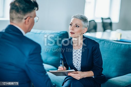 1157633068 istock photo Business partners in discussion 1214806773
