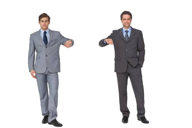 business partners leaning on copy space - appoggiarsi foto e immagini stock