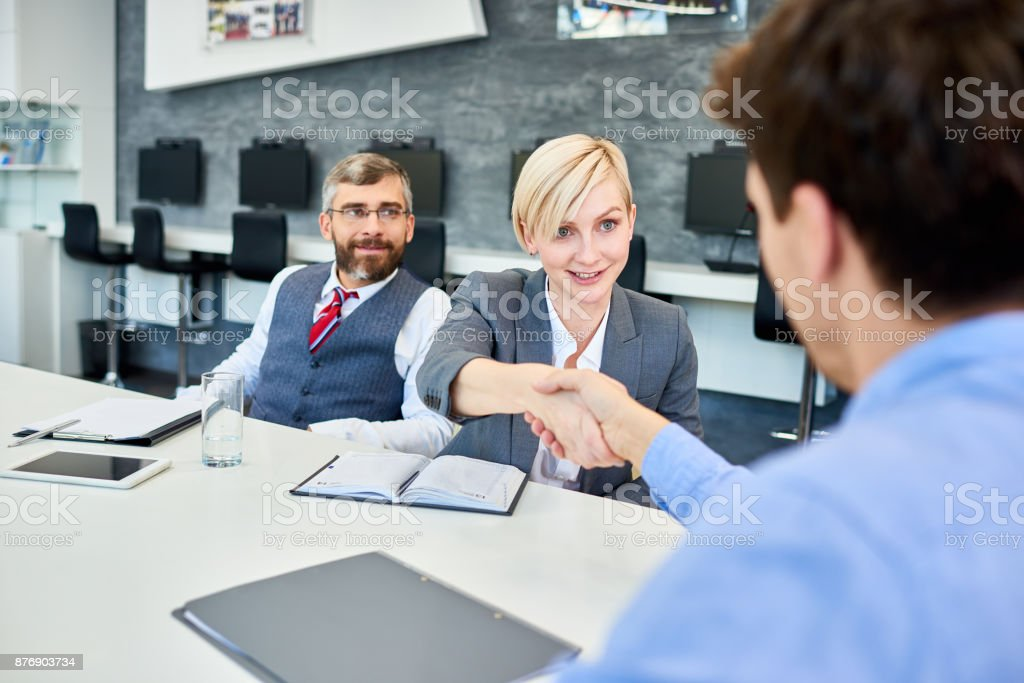 Business Partners Meeting  in Board Room stock photo