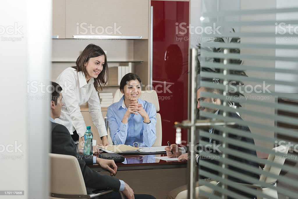 Business partners negotiating royalty-free stock photo