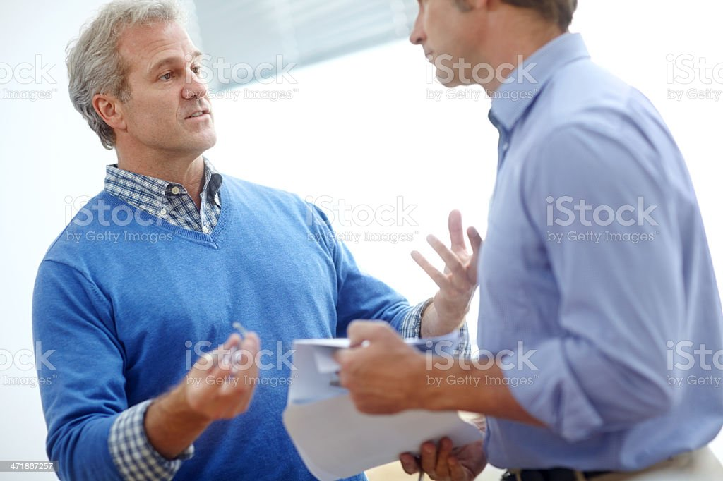 Business partners since the beginning royalty-free stock photo