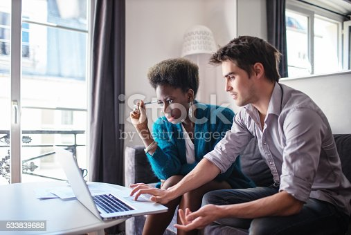 istock Business partners working at home 533839688