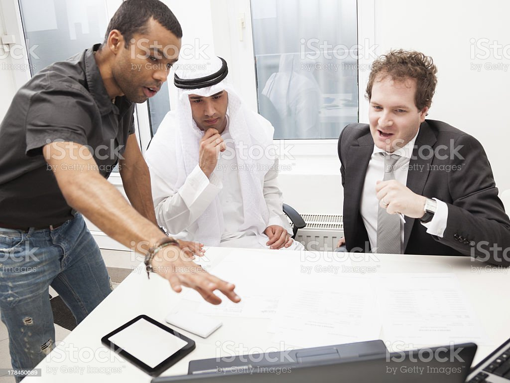 Business partners working in the office. royalty-free stock photo