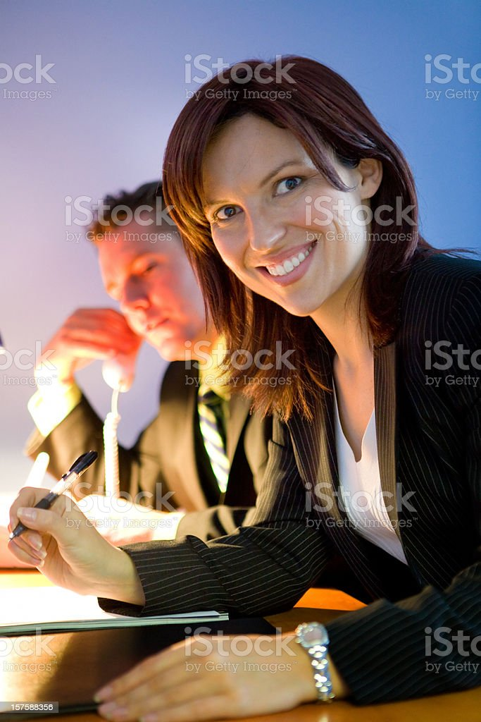 Business Partners Working royalty-free stock photo