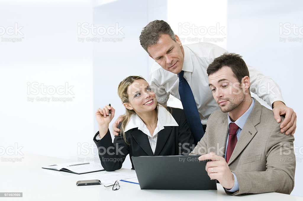 Business partnership and cooperation royalty-free stock photo