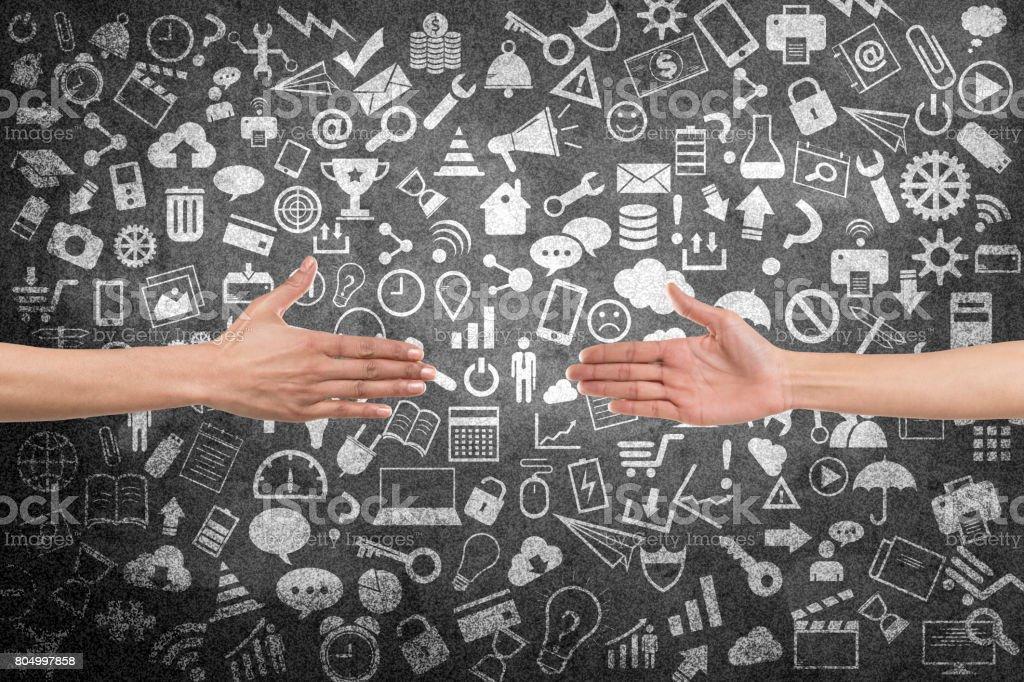 Business partnership concept stock photo