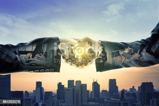 istock Business partnership concept. 884353076