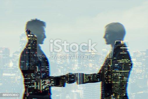 istock Business partnership concept. 889350832